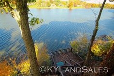 private fishing dock on City Lake in Campbellsville, KY - this place is for sale, wish I could buy it. 100+ more images and VIDEO here - http://www.kylandsales.com/126CoxCove/KentuckyLakeHouseForSaleCove.html