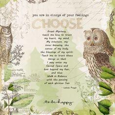Choose To Be Happy - Digital Scrapbooking Ideas - DesignerDigitals  #wisdom #choices #scrapbook