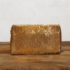 1960s Vintage Gold Chainmail Clutch