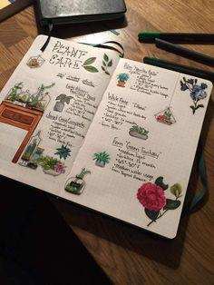 Bullet Journal Inspo, Bullet Journal Ideas Pages, Art Journal Pages, Art Journals, Bullet Journals, Garden Journal, Nature Journal, Book Of Shadows, Plant Care