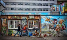 La #EastSideGallery de #Berlín, es el tramo de muro más largo que se conserva. http://www.viajaraberlin.com/?page=prenzlauerbergyfriedrichshain.php #turismo #viajar #Alemania