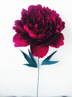 giant paper peony | over sized paper flower | paper peony | standing flower | art installation | paper art | red peony | paper flowers | giant paper flower | wedding decor | unique wedding ideas | flower rental