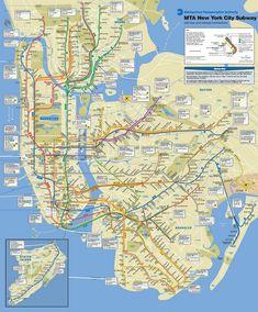 nyc subway manhattan subway map public transport and nyc subway