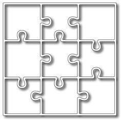 Frantic Stamper Precision Die - Nine Piece Puzzle Panel,$19.99