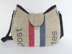 Handmade shoulderbag from used Dutch postmanbags made by Door Jolanda