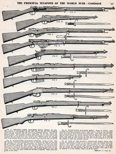 World War I | vintage everyday: Principal Weapons of The World War I