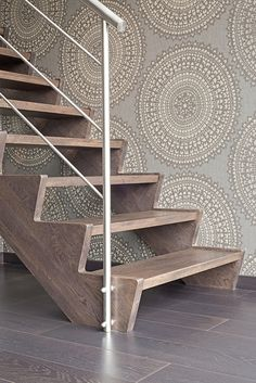 Recycled Furniture, Metal Furniture, Stair Renovation, Open Trap, Home Stairs Design, House Stairs, Home Decor, Stairway Lighting, Ideas