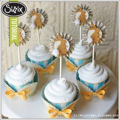 Sizzix Die Cutting Tutorial | Vintage Easter Cupcakes by Hilary Kanwisher