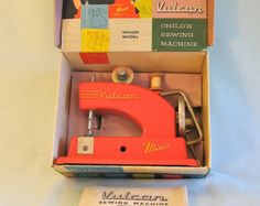 Vulcan Minor toy sewing machine in original packaging