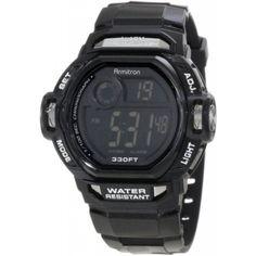 Armitron Men's 40/8193SBLK Black Dial Chrome Resin Accented Digital Sport Chronograph Watch