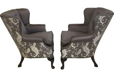Wingback Armchairs, Pair on OneKingsLane.com