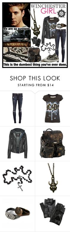 """""""Dean Winchester ❤"""" by takemetothecookies ❤ liked on Polyvore featuring rag & bone, Belstaff, Roxy and Carolina Amato"""