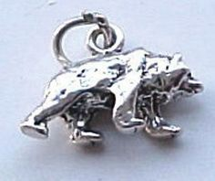 Charms, Animals: Bear Mascot Baylor Sterling Silver Traditional Charm #Traditional