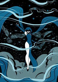 Comic Book Characters, Marvel Characters, Comic Character, Comic Books Art, Comic Art, Robin Starfire, Starfire And Raven, Teen Titans Fanart, Teen Titans Go