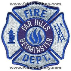 Far Hills Bedminster Fire Department Dept FHBFD Rescue EMS Patch New Jersey NJ