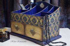 Apothecary Cabinet-Trinket makeup Jewelry Storage-Mini Chest