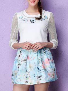 Printed Two Piece Mini Dress