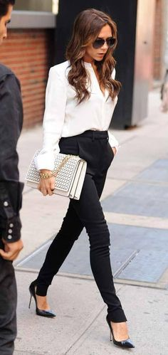 Business casual victoria beckham style
