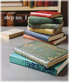 belle maison: DIY Bookshelves...made with Books!