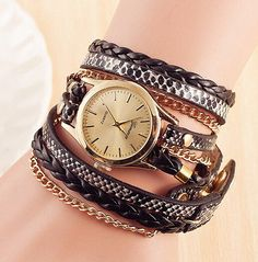 Retro Leather Weave Bracelet Quartz Watch on sale now for just $19.99. Get your at https://shopedkorn.com/collections/womens-watches/products/retro-leather-weave-bracelet-quartz-watch