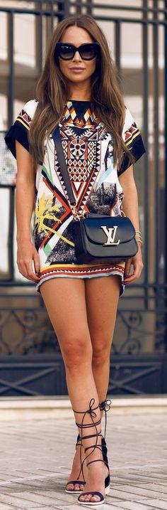 Printed Dress Shopping Style by Johanna Olsson