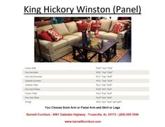 King Hickory Winston Sectional with Panel Arm and Skirt. You Choose from (4) Arm Styles and Skirt or Legs.  You Choose the Fabric or Leather