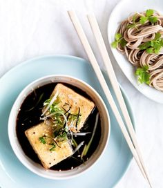 // Spicy Tofu with Soba Noodles