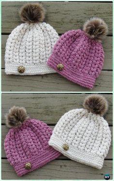 US Women Baby Kid Warm Winter Knit Wool Beanie Fur Pom Bobble Hat Crochet  Cap   971b0c56e5