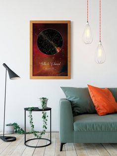 A Beautiful Color Custom Star Map For The Man In Your Life With The - Star map from my location