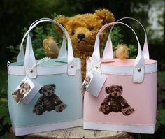 Zauberhaft-handgemacht, Bärentasche, SU, Unentbärliche Grüße, Verpackung, Baby, geburt