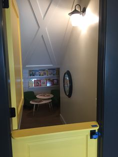 Secret play room under stairs