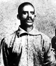 "The 1st known Black professional baseball player, previous to the present league organization, was pitcher John W ""Bud"" Fowler (1858-1913); whose real name was John W Jackson. In Apr. 1878, playing for a local team from Chelsea, MA, he defeated the Boston club of the National League in an exhibition game. Fowler became also a 2nd baseman & his career as a semi-professional can be traced at least as late as 1891."