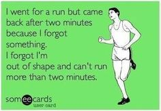 Haha...mine would be I forgot how much it hurts certain body parts!! LOL