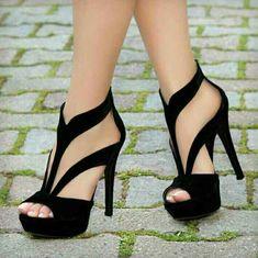 Fantastic heels - high heels - Schuhe - Best Shoes World High Heels Boots, Black High Heels, Pumps Heels, Stiletto Heels, Shoe Boots, Heeled Sandals, Black Sandals, Woman Shoes High Heels, Black Heels Outfit
