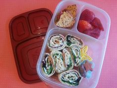Hummus wraps packed for lunch | packed in @EasyLunchboxes containers