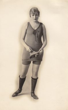 1900 Bathing Suits for Women | ... in what seems to be a fairly scanty suit- perhaps an athletic version