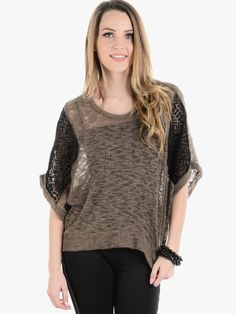 Olive On The Market Oversized Knit Top | $10.00 | Cheap Trendy Blouses Chic Discount Fashion for Wo