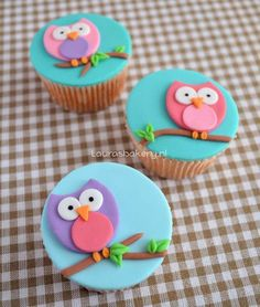 how to owl cupcakes