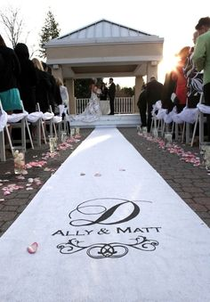 Custom Wedding Aisle Runner - White. $145.00, via Etsy.