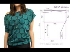 DIY Cómo hacer blusa con dos tipos de telas estampadas. Despliega la descripción para obtener toda la información!!! Post completo y más fotos del resultado:...