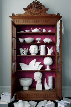 Unusual collection of white pottery.