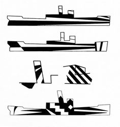 Wasp-like dazzle camouflage by Alon Bement in SHIP SHAPE From Peter Krass , Portrait of War: The US Army's First Combat Artists and. Camouflage Nails, Dazzle Camouflage, Camo Nails, Camouflage Patterns, Racing Stripes, Razzle Dazzle, Animal Design, Op Art, Geometric Shapes