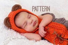 PATTERN: Baby Bear Hood Ewok Hood by xoxoTouchofLovexoxo on Etsy