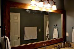master bath wood frame door angle
