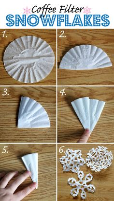 Best and EASIEST Paper Snowflakes EVER!  Make a garland, wreath, wrap presents over craft paper, glue to paper table runner