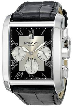 Raymond Weil 4878-STC-00268 - Reloj de hombre automático blanco con correa de piel (Cronógrafo, cristal zafiro)