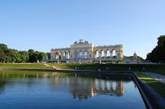 The Baroque Garden of Schönbrunn Palace, Vienna, Austria
