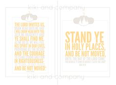 LDS mutual theme 2013- Stand Ye in Holy Places printables