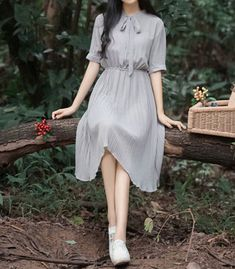 15 casual vintage dresses make you look fashionable page 2 Korean Fashion Dress, Korean Dress, Ulzzang Fashion, Asian Fashion, Modest Fashion, Fashion Dresses, Pretty Outfits, Pretty Dresses, Beautiful Dresses