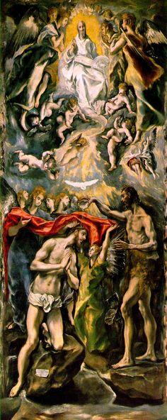 The Baptism - El Greco
